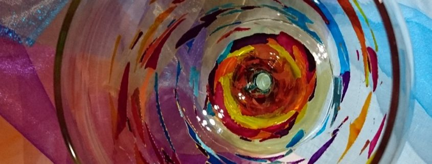 Arte en Cristal decorado Cóctel Fantasía