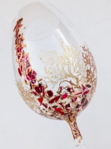 Copa de vino modelo Ártico, Coral y Fantasía