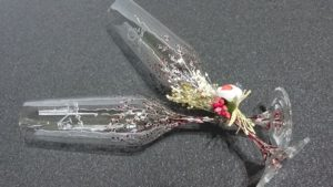Copas Flauta Modelo Trepadora rojos