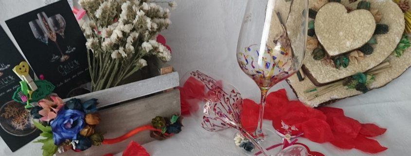 Copas Vinos Ártico y Fantasía San Valentín regalo