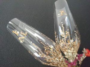 Copas de Flauta Modelo Trepadora dorado