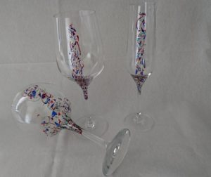 Modelo Ártico copas de vino, flauta y cóctel
