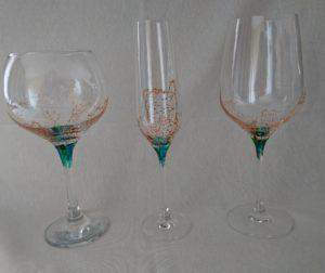Modelo Coral Copas de Vino, Flauta y Cóctel