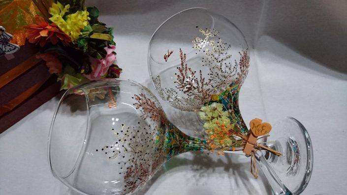 Modelo Coral y Fantasía copas de cóctel