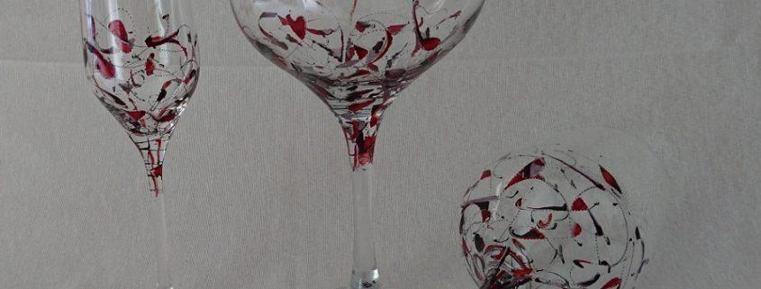 Modelo Fantasía copas, Vino, Flauta y Cóctel