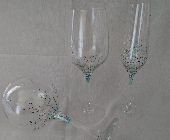 Modelo Trepadora copas, Vino, Flauta y Cóctel