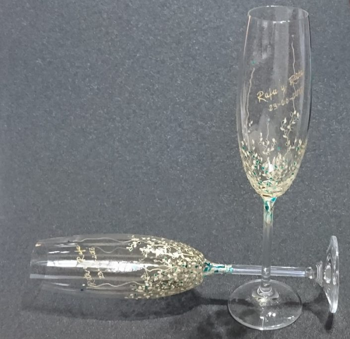 Modelo Trepadora de flauta en azules