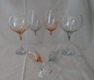 Modelos Coral y Trepadora , Vino, Flauta y Cóctel