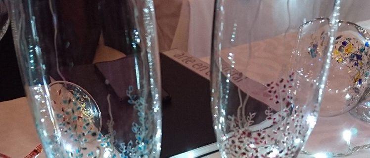 Modelos copas Flauta cristal decorado