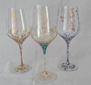 Modelos copas de vino Coral - Trepadora y Triana