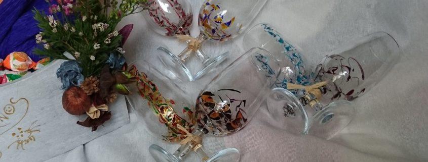 Regalo Arte en Cristal Catavinos Fantasía y Triana
