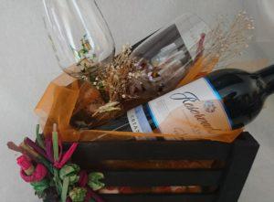 Regalo treminado Modelo Fantasía y Arrecife copas vino