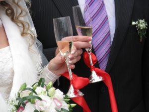 Copas para bodas en Arte en Cristal. Diseño exclusivo