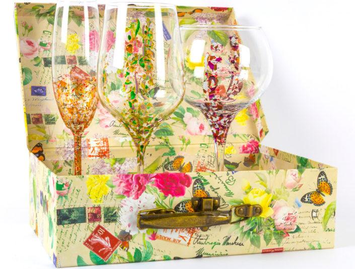 Copa de vino Brooklyn con Arrecife y Triana con caja para regalo