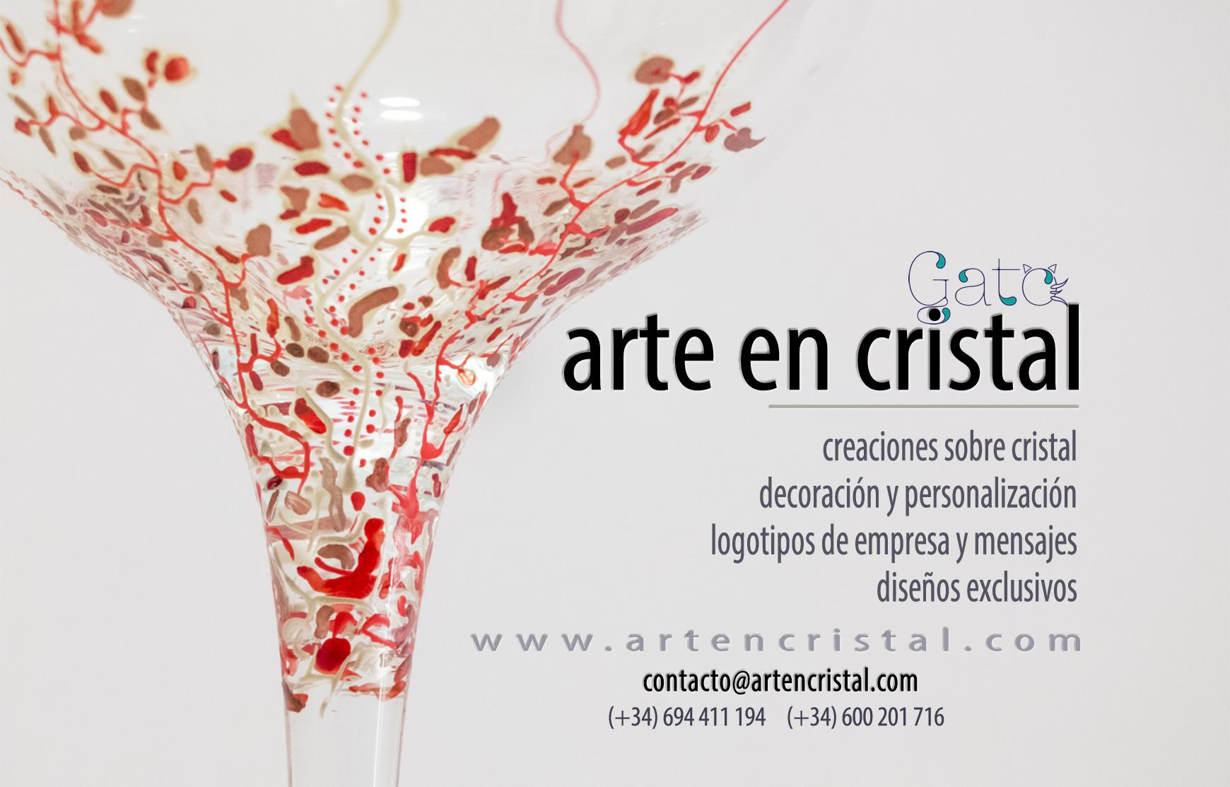 Contacto con Arte en Cristal. Copas exclusivas decoradas a mano.