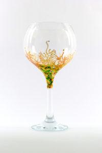 Juego de copas decoradas a mano Coral Copa de Combinados