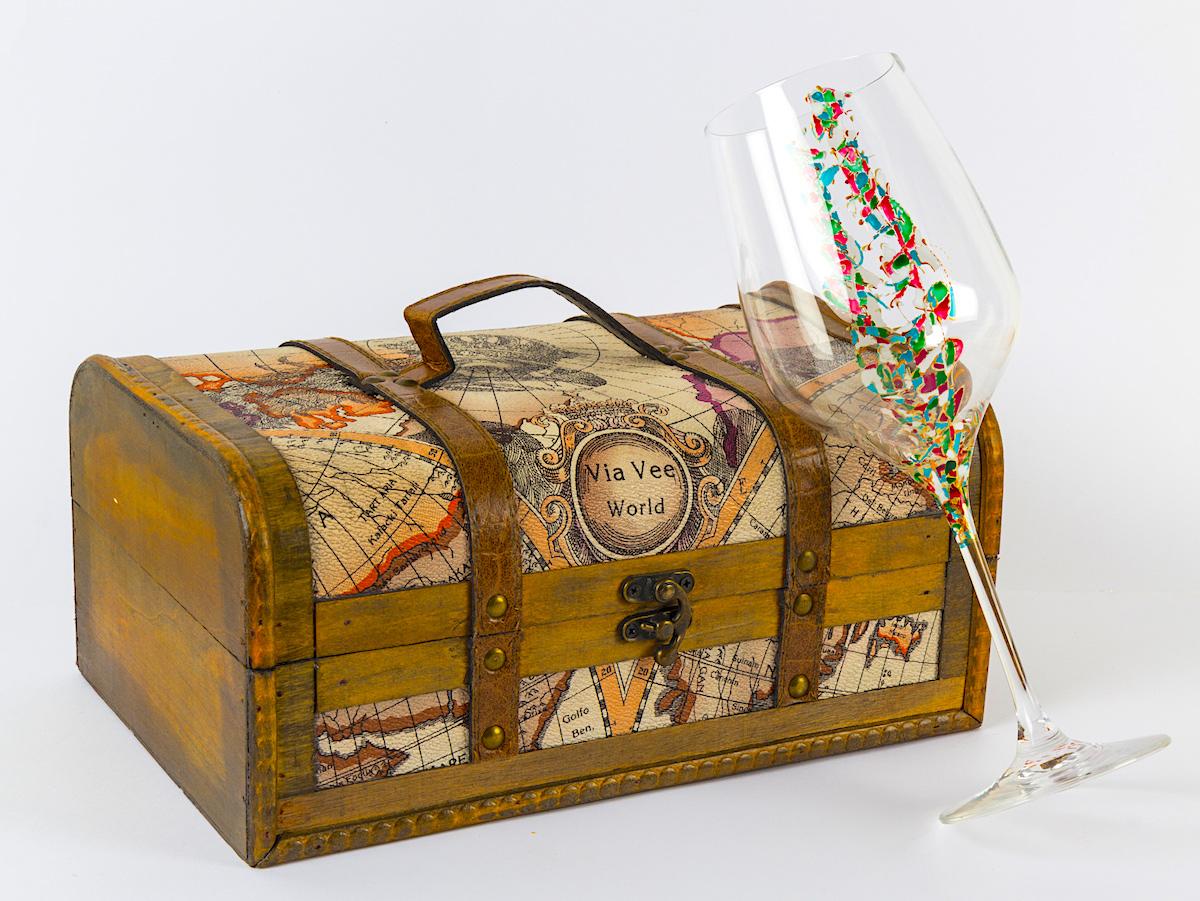 Copa de vino Triana con baúl